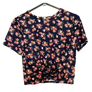 Gaze Floral Cropped Top